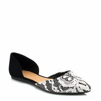 Pointy Lacy Day Flats