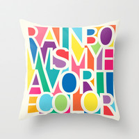 My Favorite Color Throw Pillow by Jacqueline Maldonado