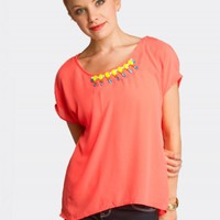 NECKLACE DOLMAN TOP