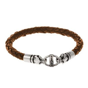 "Bico Australia Jewelry (CA15), Braided Bracelets Are Available In 18cm (7""), 21 cm (8""), and 24cm (9"") Lengths. Braided Bracelets Are Available Brown Leather - Braided Leather Bracelets - CA Bracelets - Bico Bracelets"