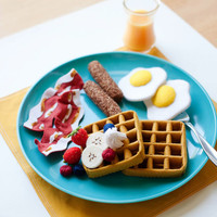 Felt Waffle Breakfast Set - Felt Food - Wool