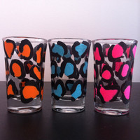 Leopard shot glasses