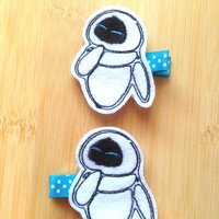 WALL-E's Eve Felt Hair Clips