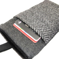 Nexus 4 Case Samsung Galaxy S4 S3 Fabric Cover HTC One - Gray Wool Sleeve