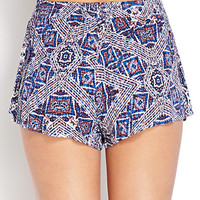 Abstract Geo Tulip Shorts