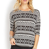 Geo Zigzag Knit Top