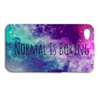Normal is BORING Phone Case Cute iPhone Cover Funny iPod Case Beautiful Case Pretty Case Girly Case iPhone 4 iPhone 5 iPhone 5s iPhone 4s