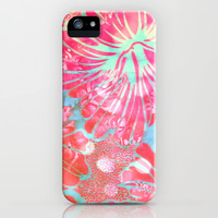 Blue Water Hibiscus Snowfall iPhone & iPod Case by Vikki Salmela