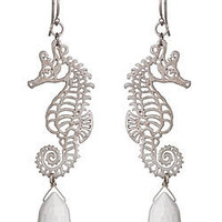 Agrigento Seahorse and Agate Earrings - Max and Chloe