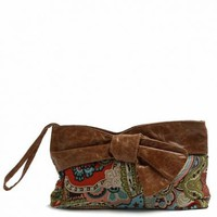 Paisley Cotton Knot Clutch
