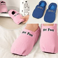 Hot Feet Microwave Slippers @ Harriet Carter