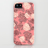 Bright Pink Roses iPhone & iPod Case by Ornaart