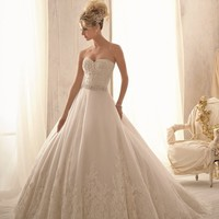 Alencon Lace Gown by Bridal by Mori Lee