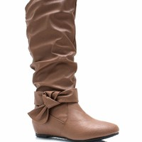 Fit To Be Tied Slouchy Boots