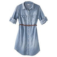 Merona® Women's Denim Belted Shirt Dress - Blue