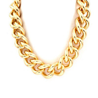 Gold Chain Link Necklace - Furor Moda - Tops - Dresses - Jackets - Vintage