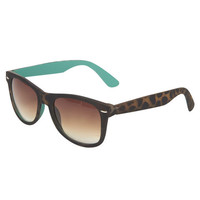 Matte Tortoise Wayfarer Sunglasses | Wet Seal