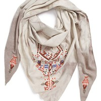 Leith Embroidered Triangle Scarf | Nordstrom