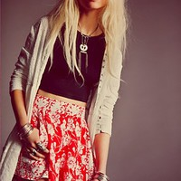 Free People Mixed Print High Rise Skort