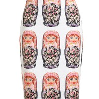 NATASHA ZINKO | Matreshka Printed Stretch Jersey Skirt | Browns fashion & designer clothes & clothing