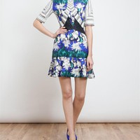 PETER PILOTTO | Elizabeth Printed Silk Cloque Dress | Browns fashion & designer clothes & clothing