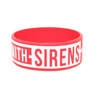 Sleeping With Sirens Anchor Logo Rubber Bracelet