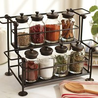 COUNTER SPICE RACK & JARS