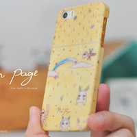 Apple iphone case for iphone iPhone 5 iphone 5s iphone 4 iphone 4s iphone 3Gs : cute fantasy animals