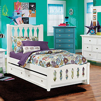 Belmar White 5 Pc Twin Sleigh Bedroom