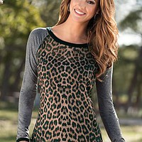 Leopard Multi (LEMU) Sheer Animal Print Top