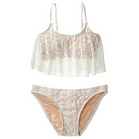 Xhilaration® Junior's Crochet 2-Piece Swimsuit -Ivory