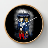 Charlie Chaplin Waiting the Doctor Decorative Circle Wall Clock Watch by Three Second