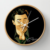 Hugh Jackman Balls Decorative Circle Wall Clock Watch by Three Second