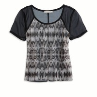 's Striped Chiffon T-shirt (Bl