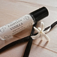 Tahitian Vanilla Perfume Oil // Roll On Perfume Oil // Phthalate Free Fragrance // Natural // Vegan // 10 ml.