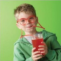 plastic DIY drinking straw eyeglasses,silly straw glasses,amazing straw glasses---clear