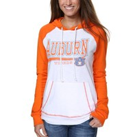 Auburn Tigers Ladies Slub Raglan Pullover Hoodie - White/Orange