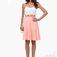 Just Peachy Knee Skirt