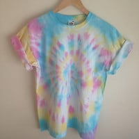 Tie Dye T-Shirt Candy Coloured Spiral Effect
