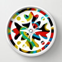 Shape series 1 Wall Clock by DuckyB (Brandi)