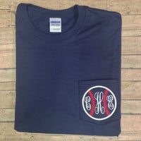 Baseball monogram SHORT SLEEVE t shirt
