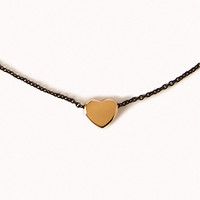 Mini Heart Chain Necklace