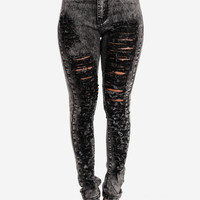 Fashion Jeans-Trendy High Waist Jeans-Skinny acid wash jeans
