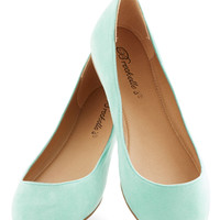 Pop, Skip, and a Jump Flat in Mint | Mod Retro Vintage Flats | ModCloth.com