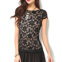 Drop Waist Lace Dress