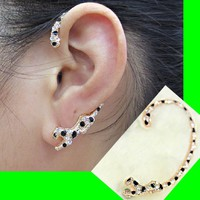 Jaguar Rhinestone Ear Cuff (Single, 1Piercing)