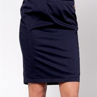 Eighth Sin Chain Detailed Pencil Skirt Made in Italy - 			        	Junior Girls and Boys Apparel & Accessories