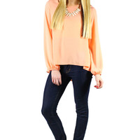 Sincerely Yours Blouse - Apricot