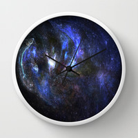Galaxy abstract Wall Clock by Armin