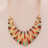 Color Impressionism Statement Necklace